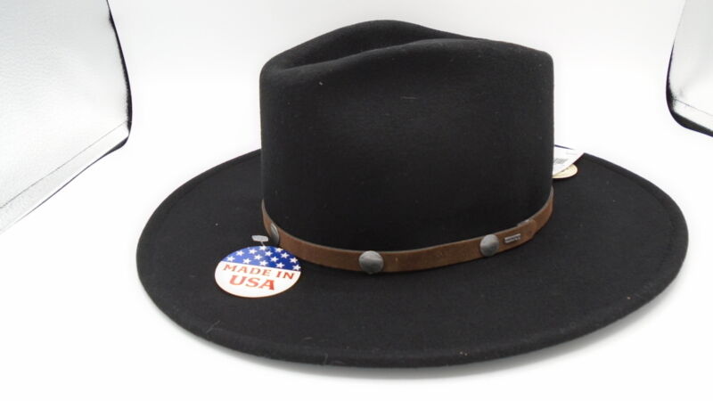 Stetson Tahoe Crushable Wool Cowboy Hat Black
