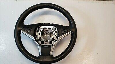 04-10 BMW E60 525i 528i 530i Steering Wheel Leather Black OEM 11008818