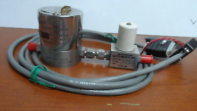 Vintage Matheson Flow Meter Model 8142 With 15-pin Male Connector