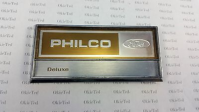 Philco Ford Deluxe Refrigerator Nameplate; A7-3a