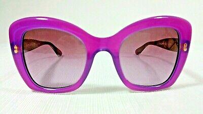 Dolce & Gabbana DG4205 Womens Retro-Inspired Purple Frame Sunglasses Gold Detail Dolce And Gabbana Inspired Sunglasses