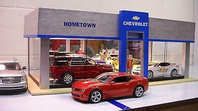 Chevrolet Modern Model Car Dealership Diorama custom built 1/24  1/25th scale!
