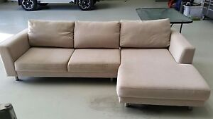 Lounge. Beige Fabric Burpengary Caboolture Area Preview
