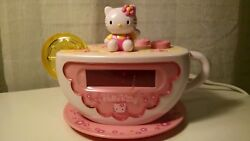 HELLO KITTY Tea Cup Digital Alarm Clock AM/FM Radio