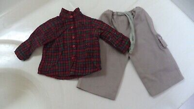 American Girl Red Shirt & Pants - Cargo Outfit Retired 1999 Exc No Play