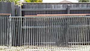 Galvanised pool fencing
