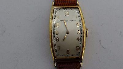 Rare Vintage Art Deco 1930 Vacheron Constantin 18K Long Tank Watch