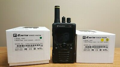 Unication G2 P25 VHF OR UHF Pager FREE 5 Yr Warranty