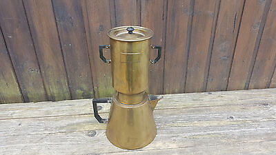 Alte Kaffee Teemaschine Metall, Messing Marke Selecta France, Art Deco Nr. 247