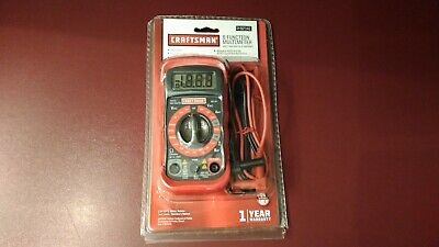 Craftsman 8 Function Digital Multimeter With Ac Voltage Detector