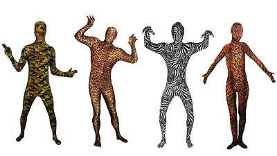 Fantastic Suits Kostüm elastischer Anzug Camouflage Tiger Leopard Zebra Karneval