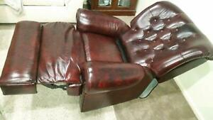 TWO CHESTERFIELD ELECTRIC LEATHER RECLINERS - REDUCED!!