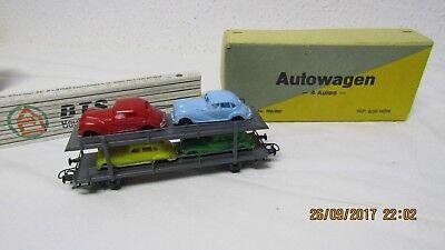 alter Waggon H0 Autowagen 4 Autos EMW Autotransporter DDR VEP Ostalgie