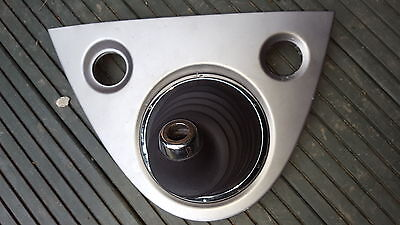 HONDA CIVIC MK7 ALL MODELS 2001 2005 BLACK LEATHER GAITER CHROME EDGES GREY BASE