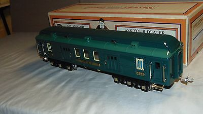 LIONEL STANDARD 11-40079 GREEN COMET WOLF BAGGAGE CAR IN ORIGINAL BOX