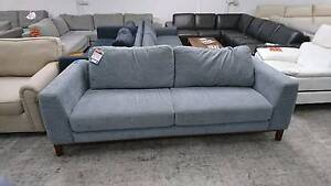 AMELIE 3 SEATER FABRIC SOFA - STURDY AND COMFORTABLE. Richmond Yarra Area Preview