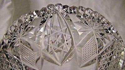 COMPOTE, American Brilliant Period Cut Crystal Leaded Glass Zipper Cut Stem