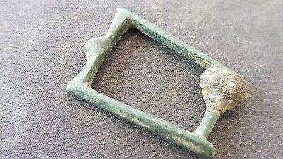 Lovely rare medieval 12th Century bronze buckle. Please read description. L107g