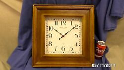 2206M Vtg Sterling & Noble Wall Clock LARGE 15 Wood Cased EASY READ NUMBERS VGC