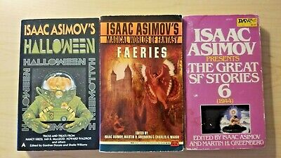 Isaac Asimov lot - Great SF Stories 6, Halloween, Magical Worlds of - Halloween World Of Fantasy
