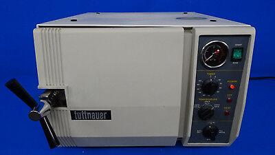 Tuttnauer Automatic Steam Sterilizer With Trays Refurbished 90 Day Warranty