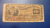 Banco Español La Habana 10 Centavos 1883 -  - ebay.es