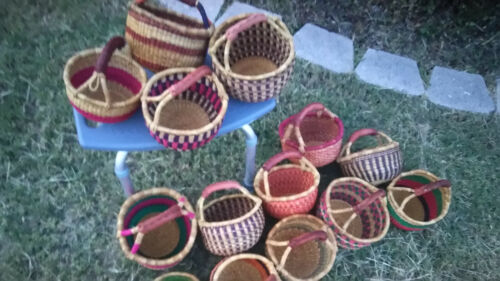 CLEARANCE, LOT OF 10, Small Size, AUTHENTHIC Ghana BOLGA Market Basket