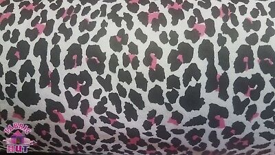 Pink and White Cheetah Print on White Cotton Flannel Fabric By The Yard - The Pink Cheetah
