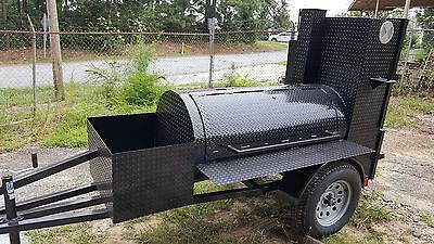 Night Gauges Start A Bbq Business Reverse Plate Smoker Grill Trailer Food Truck
