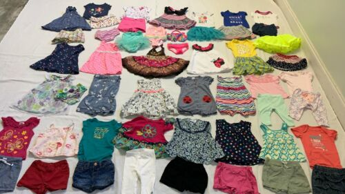 Baby Girl Lot/52  6-12months Spring Summer Everyday Clothing Outfits Carter