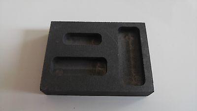 Graphittiegel Barrenform Schmelztiegel Graphite crucible Schmelzschale 43,8 g