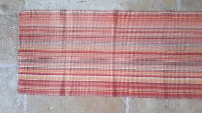 PIER DINING table runner and 6 place mats in terracotta/stripe design