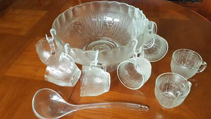 Punchbowl and cups