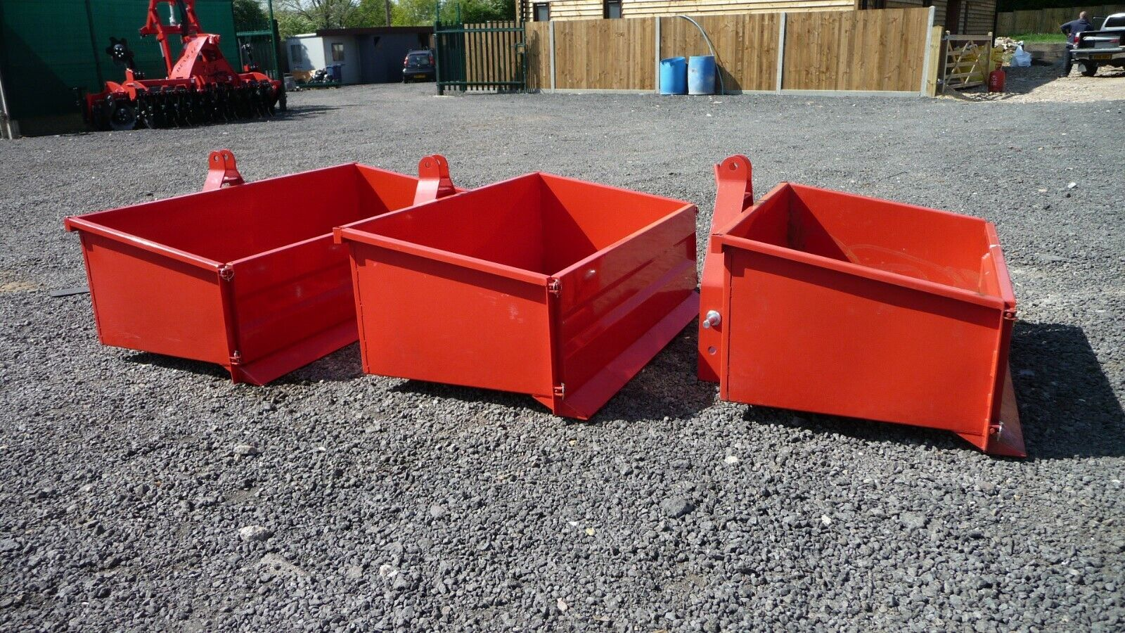 COPMACT TRACTOR TRANSPORT BOX, 3 POINT LINKAGE, HEAVY DUTY - 2 size