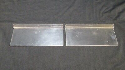 Acrylic Clear Slatwall Shelves 4 X 10 Inch Flat Retail Store Display Lot Of 2