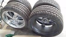 Toyota Supra Tyres & Rims. Very Wide! Also suits Nissan Skyline Cavan Salisbury Area Preview
