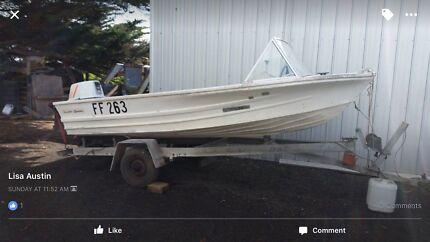 4 meter aluminium boat $3,400 sale price