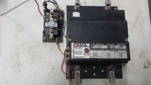 ASCO 920 Remote Control Switch 75 Amp 2 Poles 216B64 relay