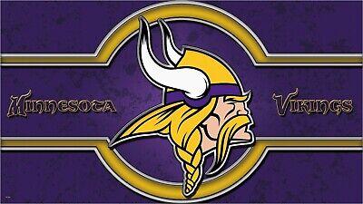 Minnesota Viking Fußball Logo Custom Kennzeichen Name und Star-Graphic Serie ()