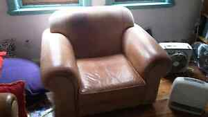 Quality brown  leather Freedom furniture armchair Marrickville Marrickville Area Preview