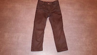 Pantalones de Lona JACADI 5 Años Marrón Muy Buen Estado Para Niña