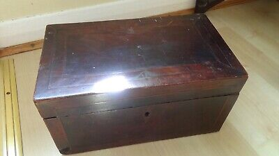 ANTIQUE EARLY VICTORIAN TEA CADDY FOR RESTORATION