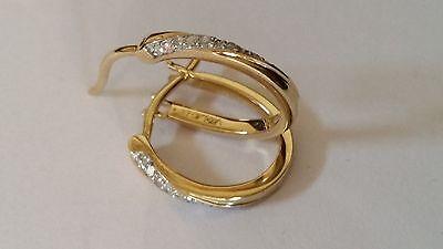 9ct gold 0.10 diamond hoop earrings RRP  119.99 FREE P&P