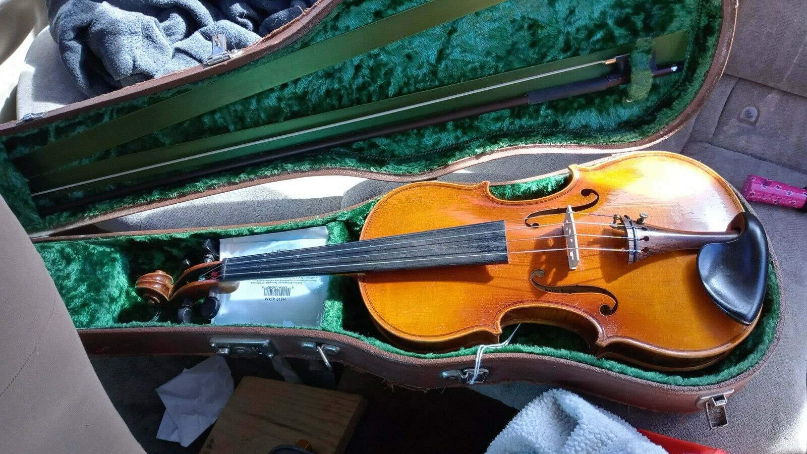 Anton Becker Violin, Size 3/4, Used Excellent Condition W/ Hard Case. - $154.00