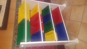 Storage bin rack with 12 bins