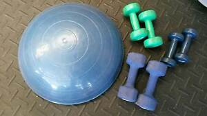 Bosu Balance Ball and dumbell set East Maitland Maitland Area Preview