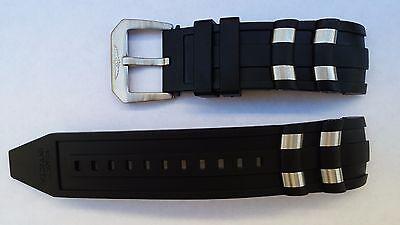 Silicone Rubber Band Strap Black For Invicta Pro Diver Scuba - ORIGINAL