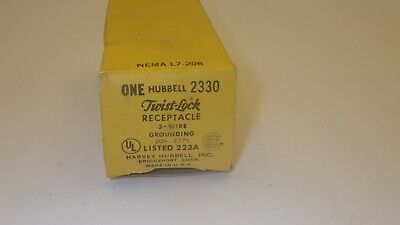 Hubbell 2330 Twist Lock Receptacle 3 Wire Grounded 20a 277vnib
