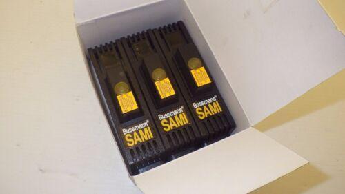 BUSSMAN SAMI-61 600V J 35-60 QUANTITY OF 3 COVER INDICATING FUSE COVER  NIB