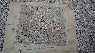 VINTAGE WW11 US ARMY MAP OF LEIPZIG  GERMANY  ARMY MAP SERVICE DC 1943 BX 99 #2
